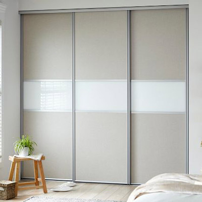Sliding Wardrobe Wooden Doors Clearly Glass